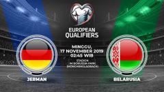 Indosport - Prediksi pertandingan Jerman menghadapi Belarusia pada lanjutan pertandingan Kualifikasi Euro 2020 yang digelar di Stadion Borussia-Park, Minggu (17/11/19).