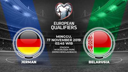 Prediksi pertandingan Jerman menghadapi Belarusia pada lanjutan pertandingan Kualifikasi Euro 2020 yang digelar di Stadion Borussia-Park, Minggu (17/11/19). - INDOSPORT