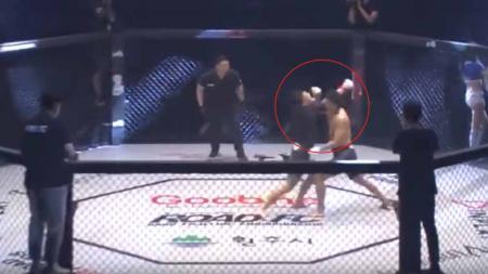 Petarung MMA sekali pukul langsung KO. - INDOSPORT