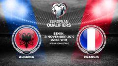 Indosport - Link live streaming kualifikasi Euro 2020: Albania vs Prancis