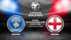 Indosport - Link live streaming pertandingan kualifikasi Euro 2020 Kosovo vs Inggris