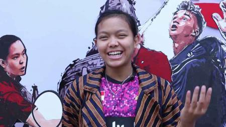 Pebulutangkis Indonesia, Siti Fadia Silva Ramadhanti yang genap berusia 19 tahun. - INDOSPORT