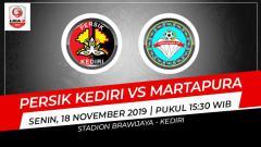 Indosport - Pertandingan antara Persik Kediri vs Martapura.