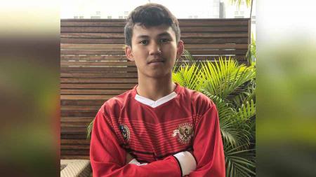 Muhammad Rafli Asrul, pemain Garuda Select II dari PSM Makassar U-16. - INDOSPORT