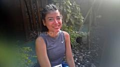 Indosport - Sigi Wimala saat mengikuti Borobudur Marathon 2019.