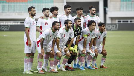 Skuat Timnas Iran U-23 kala ditantang Indonesia U-23.