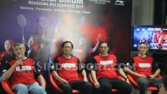 Indosport - Acara jumpa pers jelang Audisi Umum Beasiswa PB Djarum di Kudus. Foto: Alvin Syaptia Pratama.