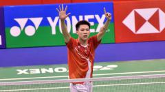 Indosport - Pebulutangkis Hong Kong, Lee Cheuk Yiu, mendoakan Anthony Sinisuka Ginting agar sukses di World Tour Final 2019.