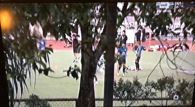 Sesi latihan direkam sembunyi-sembunyi oleh TV Malaysia. Copyright: siamsport.th