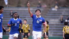 Indosport - Muhammad Hadi Fayyadh bin Abdul Razak, pemain muda Malaysia yang bermain bersama klub Jepang, Fagiano Okayama.