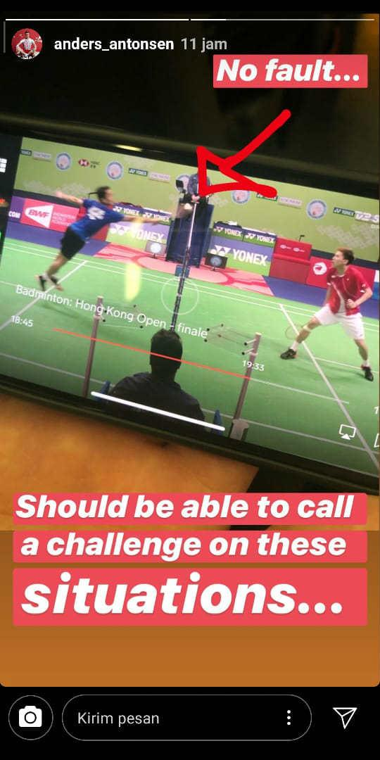 Unggahan Insta Story Anders Antonsen tentang Anthony Sinisuka Ginting Copyright: Instagram Anders_Antonsen