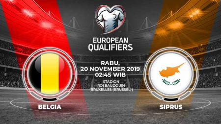 Link live streaming Kualifikasi Euro 2020 antara Belgia vs Siprus. - INDOSPORT