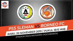 Indosport - Pertandingan Shoppe Liga 1 antara PSS Sleman vs Bali United.