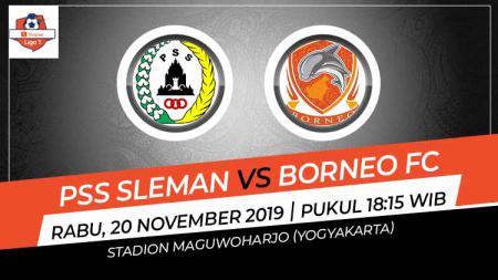 Laga pekan ke-28 Shopee Liga 1 antara PSS Sleman melawan Borneo FC, Rabu (20/11/19), pukul 18.15 WIB, bisa disaksikan di situs live streaming Vidio.com. - INDOSPORT