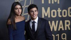 Indosport - Pembalap MotoGP, Marc Marquez dan mantan kekasihnya Lucia Rivera Romero