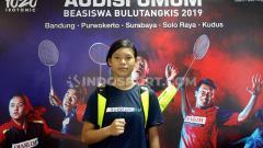 Indosport - Bocah asal Merauke, Chelsea Marvelyn Istanto yang mengikuti audisi PB Djarum di empat kota.