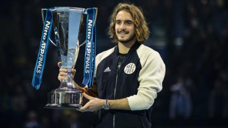 Stefanos Tsitsipas juara Nitto ATP Finals 2019. - INDOSPORT