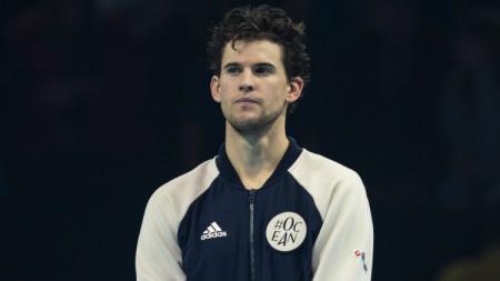Dominic Thiem jadi runner up ATP Finals 2019 usai kalah dari Stefanos Tsitsipas. - INDOSPORT