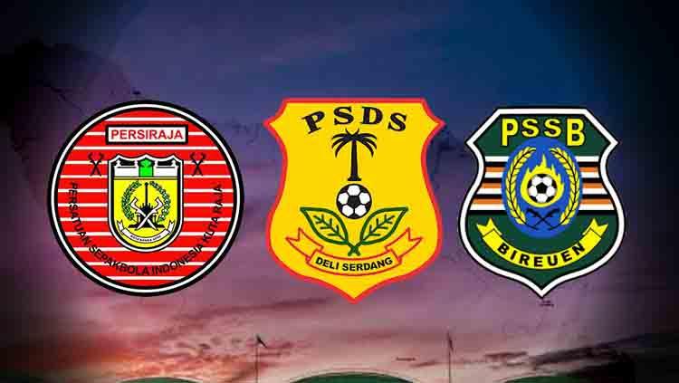 Logo-logo Klub Sumatra: Persiraja Banda Aceh, PSDS Deli Serdang, PSSB Bireun. Copyright: INDOSPORT