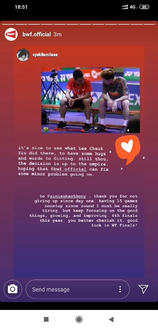 BWF Soroti Aksi Netizen yang Meminta Dirinya Intropeksi Pasca Hong Kong Open 2019 Copyright: instagram.com/bwf.official