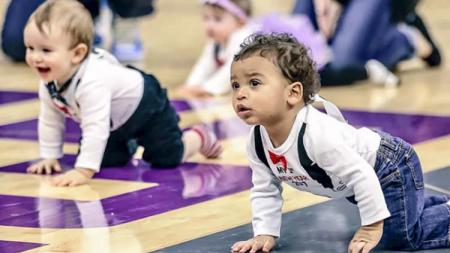 NBA Baby Race digelar dalam pertandingan Sacramento Kings vs Boston Celtics - INDOSPORT