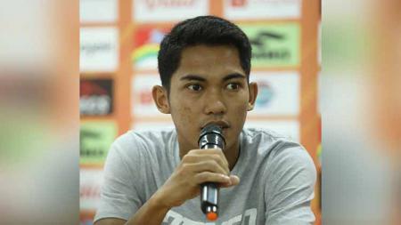 Ilham Syah dalam jumpa pers jelang Laga Liga 1 kontra PSS Sleman, Selasa (19/11/19). - INDOSPORT