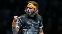 Indosport - Stefanos Tsitsipas juara Nitto ATP Finals 2019 usai kalahkan Dominic Thiem.