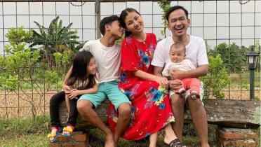Berenang, Ekspresi Anak Sarwendah dan Ruben Onsu Bikin Netizen Gemas