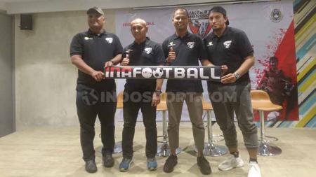 Acara jumpa pers turnamen sepak bola internasional usia muda Jakarta Seven Soccer (J7S) di kawasan Sudirman, Jakarta, Selasa (19/11/19). - INDOSPORT