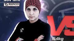 Indosport - Saeideh Aletha, petarung wanita yang meninggal setelah mengalami cedera di bagian vital.