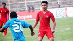 Indosport - Gelandang timnas Indonesia dan Bhayangkara FC, Teuku Muhammad Ichsan.