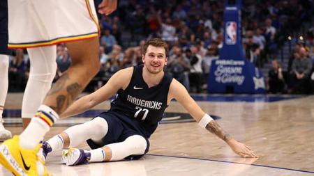 Bintang basket NBA milik Dallas Mavericks, Luka Doncic menjadi aktor kemenangan timnya atas Golden State Warriors - INDOSPORT