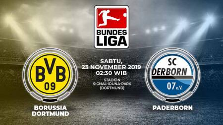Prediksi pertandingan pekan ke-12 Bundeliga Jerman 2019-2020 antara Borussia Dortmund vs Paderborn. - INDOSPORT