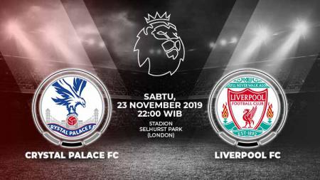 Link Live Streaming Crystal Palace FC vs Liverpool FC. - INDOSPORT
