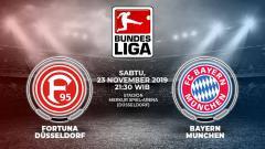 Indosport - Berikut link live streaming pertandingan sepak bola pekan ke-12 Bundesliga Jerman antara Fortuna Dusseldorf vs Bayern Munchen.