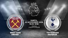 Indosport - Berikut prediksi pertandingan Liga Inggris 2019-2020 antara West Ham vs Tottenham Hotspur, Sabtu (23/11/19).