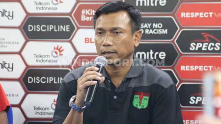 Pelatih Klub Liga 1 Persita Tangerang, Widodo Cahyono Putro membeberkan akan ada striker lokal yang merapat dalam waktu dekat. - INDOSPORT