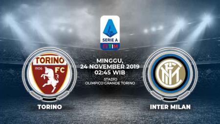 Berikut prediksi pertandingan Serie A Italia Torino vs Inter Milan, yang akan berlangsung di Stadion Olimpico Grande Torino, Minggu (24/11/19). - INDOSPORT