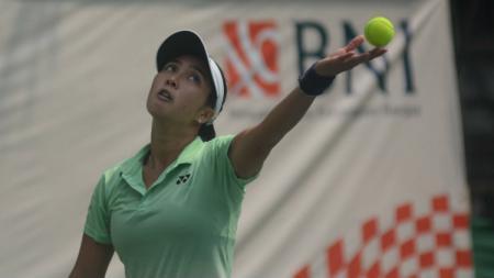 Petenis Indonesia, Aldila Sutjiadi di BNI Tennis Open 2019. - INDOSPORT
