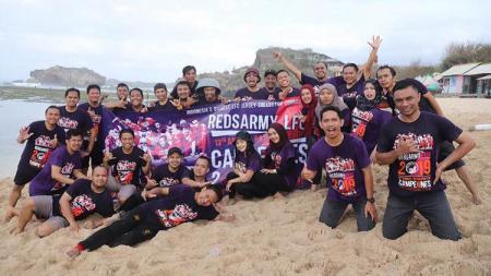 Gathering komunitas kolektor jersey Liverpool, Reds Army LFC, di Yogyakarta. - INDOSPORT