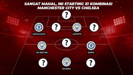 Starting XI Kombinasi Manchester city vs Chelsea. - INDOSPORT