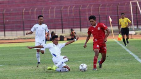 Pertandingan antara Persija U-18 melawan PSIS U-18 di babak semifinal Elite Pro Academy U-18 - INDOSPORT