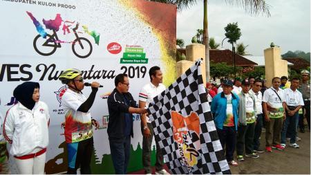 Kemeriahan event bentukan Kemenpora RI, Gowes Nusantara 2019. - INDOSPORT