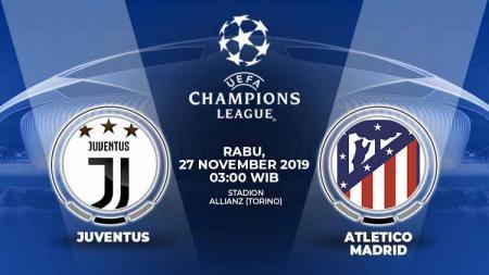 Juventus akan menjamu Atletico Madrid pada matchday kelima kompetisi sepak bola Liga Champions 2019-2020, Rabu (27/11/19) dini hari WIB. - INDOSPORT