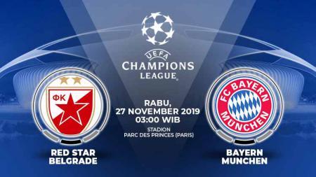 Prediksi pertandingan Liga Champions 2019-2020 antara Red Star Belgrade vs Bayern Munchen bakal berjalan begitu menarik untuk disaksikan, Rabu (27/11/19). - INDOSPORT