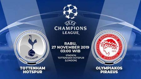 Tottenham Hotspur akan menjalani laga krusial melawan Olympiakos di Liga Champions, Rabu (27/11/19), untuk mengunci satu tiket 16 besar. - INDOSPORT