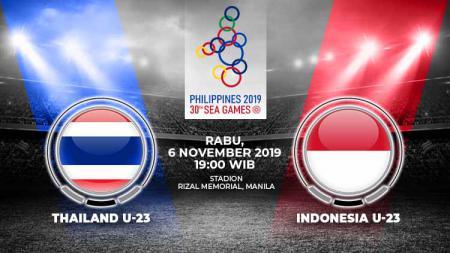 Pertandingan antara Thailand U-23 vs Indonesia U-23.. - INDOSPORT