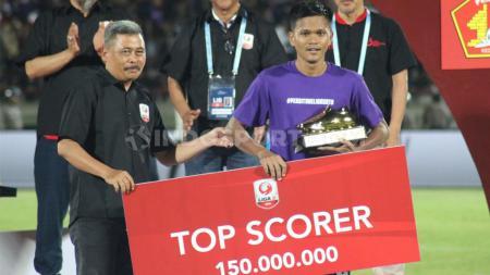 Penyerang Persita Tangerang, Sirvi Arfani sebagai top skor Liga 2 2019 dengan 14 gol. - INDOSPORT