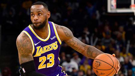 LeBron James, bintang basket NBA dari tim LA Lakers - INDOSPORT