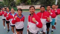 Indosport - Empat wakil tim tenis Indonesia lolos ke babak semifinal SEA Games 2019 usai menyingkirkan lawan-lawannya di perempatfinal, Senin (2/12/19), di Rizal Memorial Tennis Center.